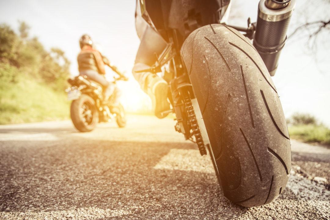 motorbike driving in the weekend